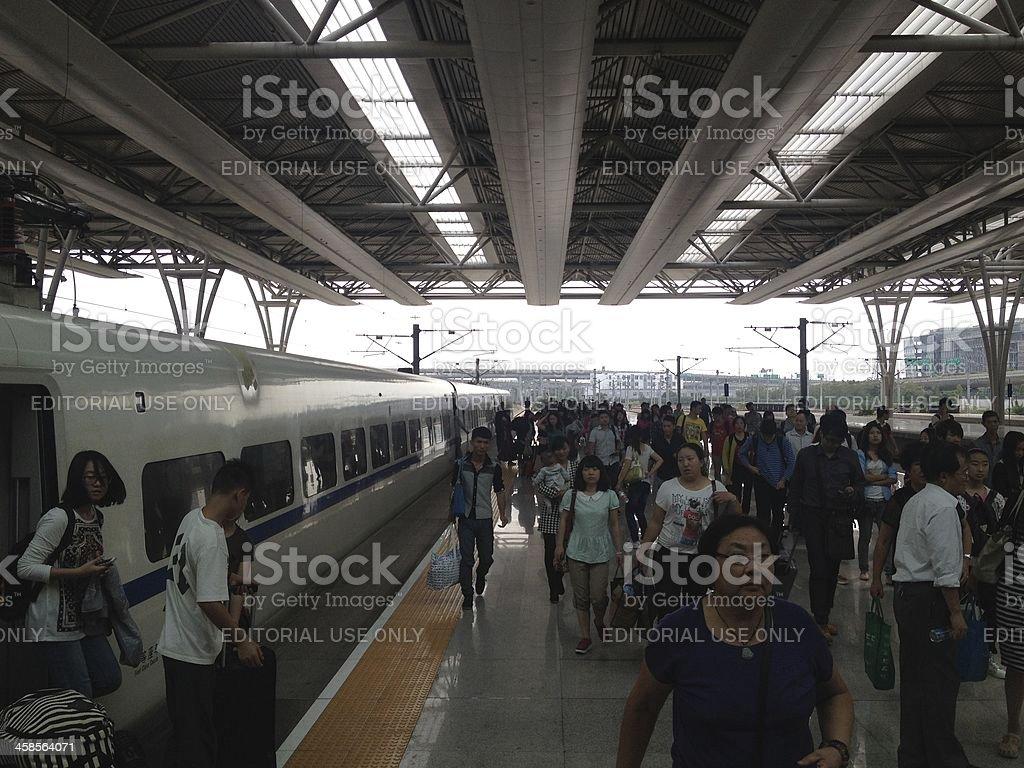 China CRH Trains royalty-free stock photo