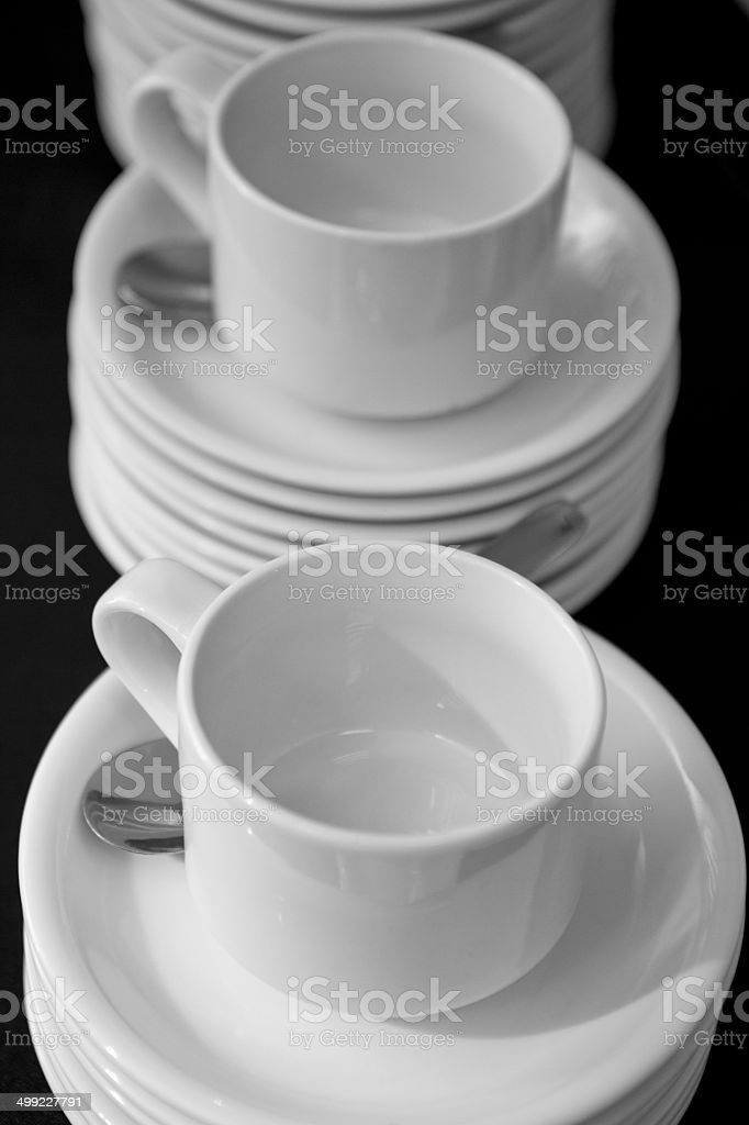 China Cups arranged royalty-free stock photo