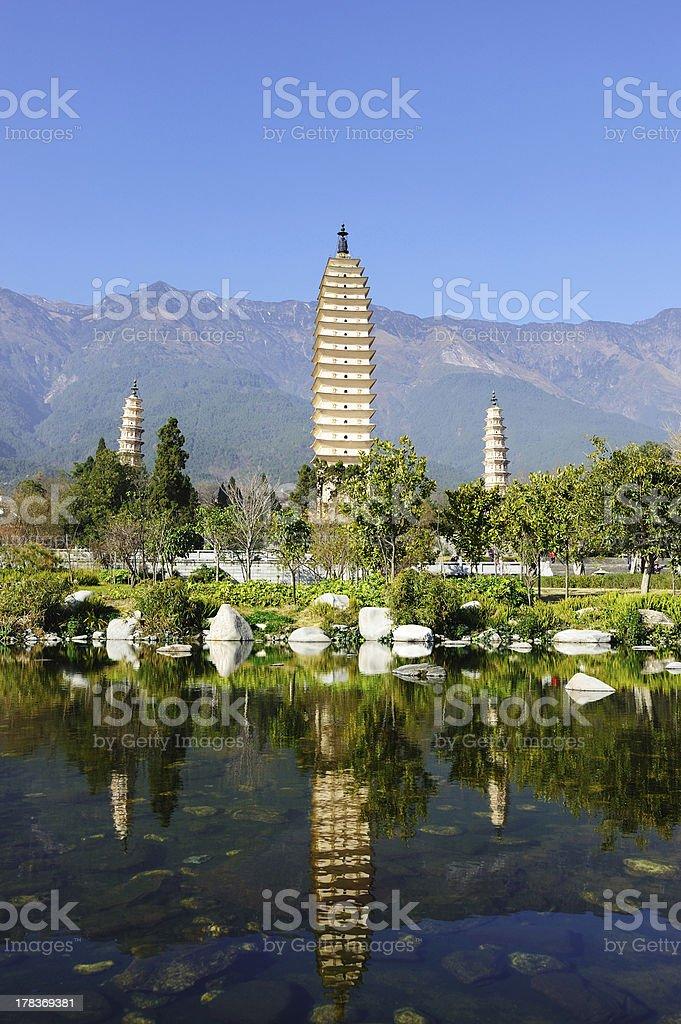 China Dali Buddhist pagodas stock photo