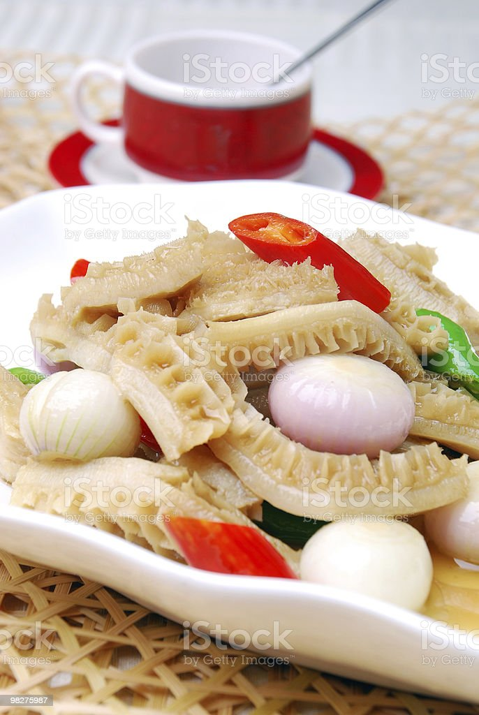 china delicious food-- tasty tripe cook onion royalty-free stock photo