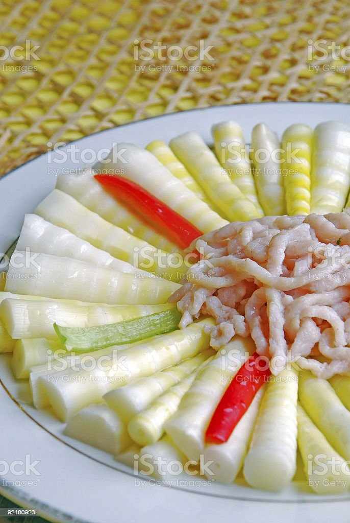 china delicious food--bamboo shoots and meat royalty-free stock photo