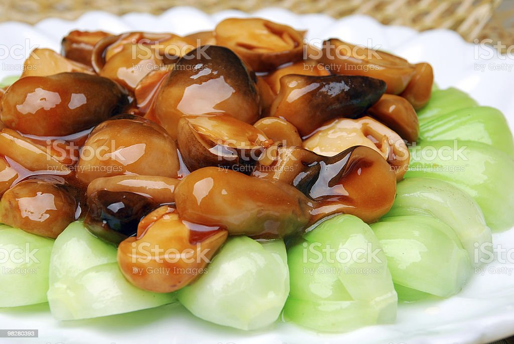 china delicious food--mushroom cook vegetable royalty-free stock photo