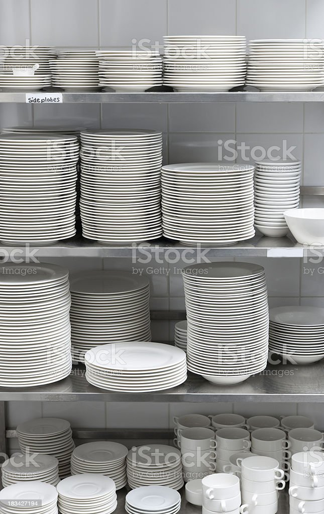 China Dishware In Restaurant Storage Room XXXL Image Royalty Free Stock  Photo