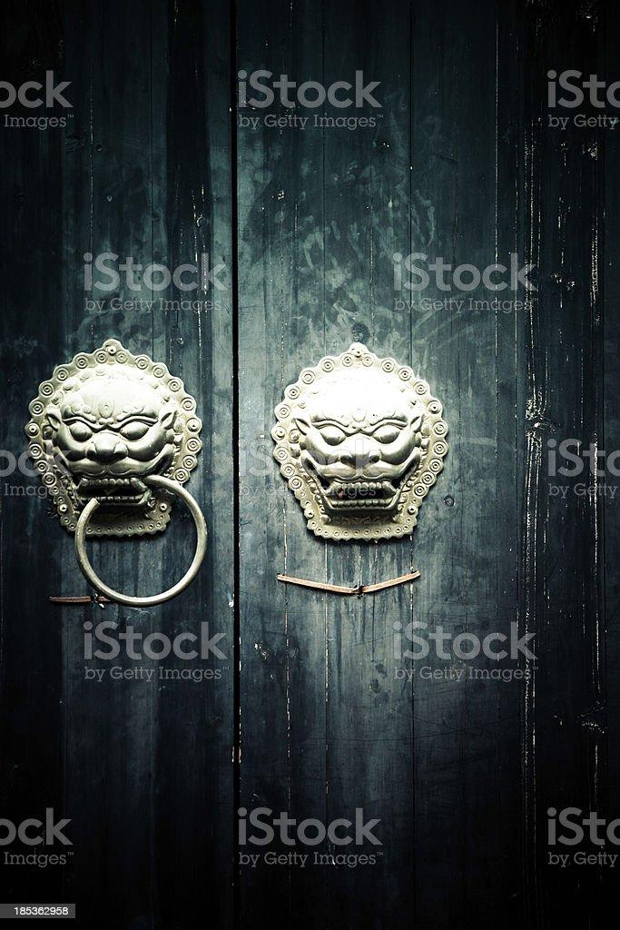 china door knob stock photo