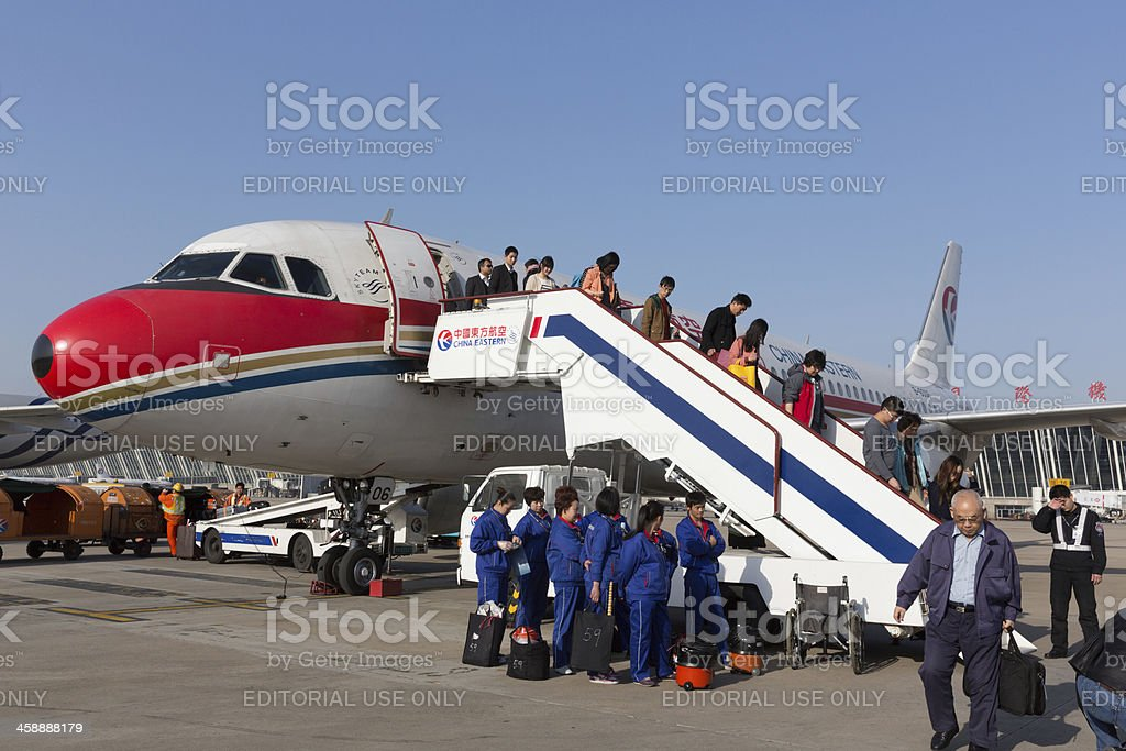 China Eastern Airlines Airbus A320 royalty-free stock photo