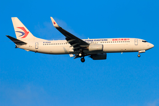 China Eastern Flugzeug Landet Auf Dem Flughafen Chiangmai In Morgen Tag Im September 222017 In Chiangmai Thailand Stockfoto und mehr Bilder von Asien