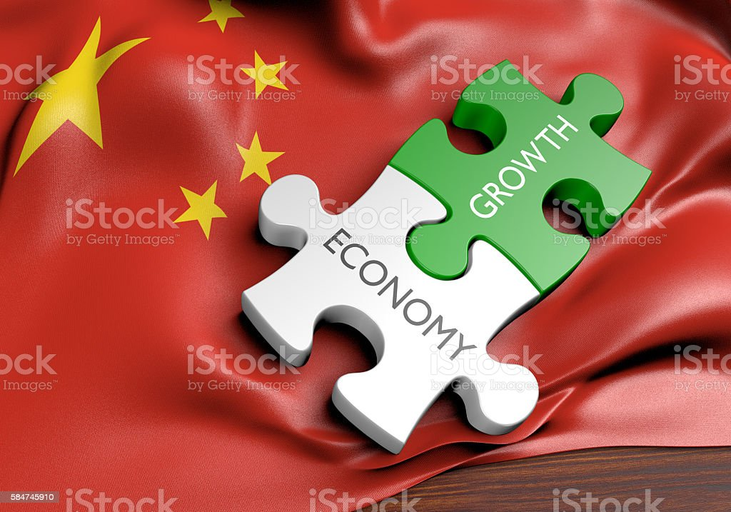 China economy and financial market growth concept, 3D rendering stock photo