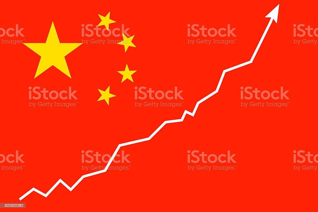 China Flag: Growth stock photo