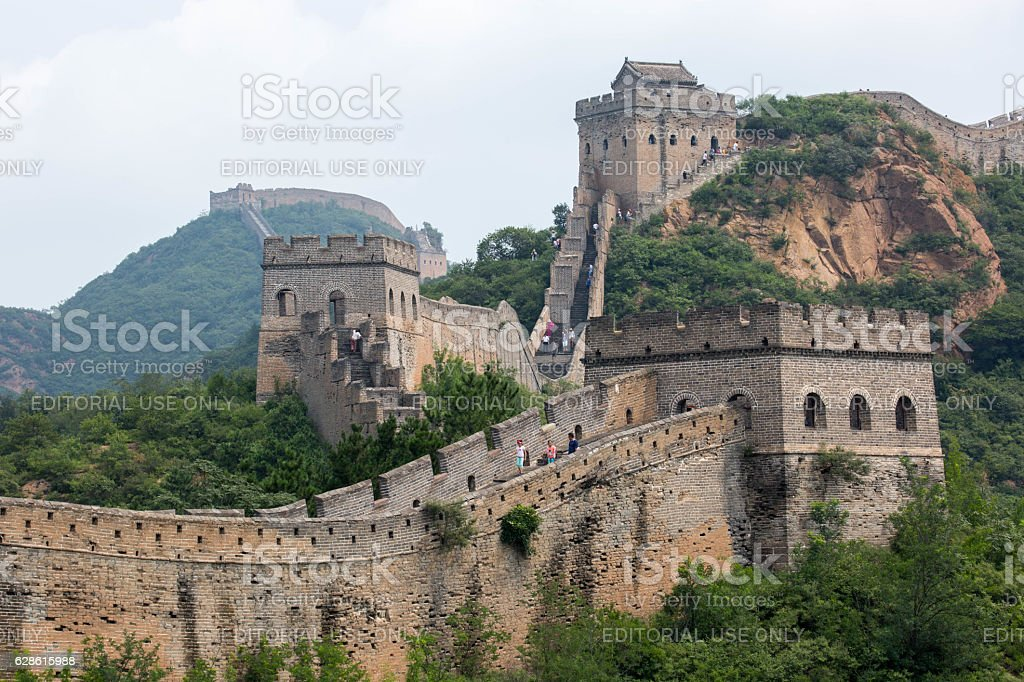 China: Great Wall (Jinshanling) stock photo