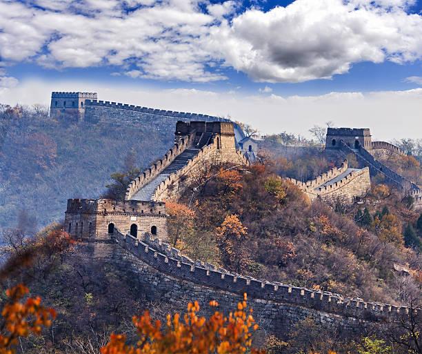 china, chinesische mauer tele blätter - chinesische mauer stock-fotos und bilder