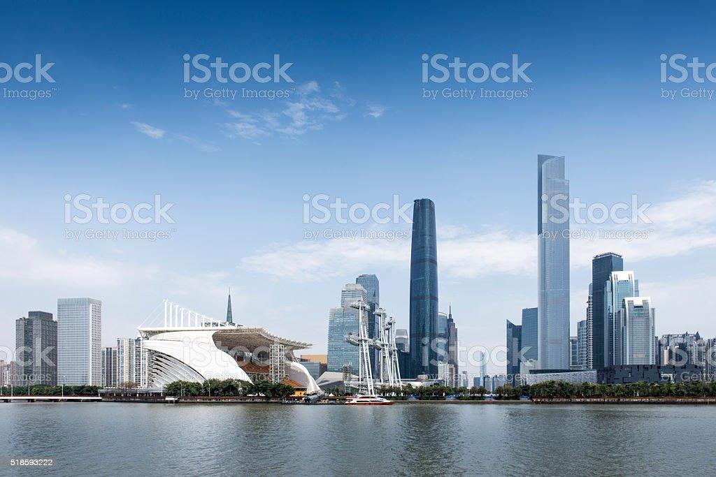 China construção da cidade de Guangzhou - foto de acervo