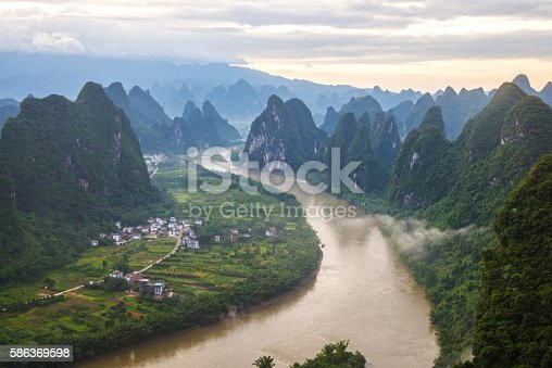 istock China Guilin Messire mountain scenery 586369598