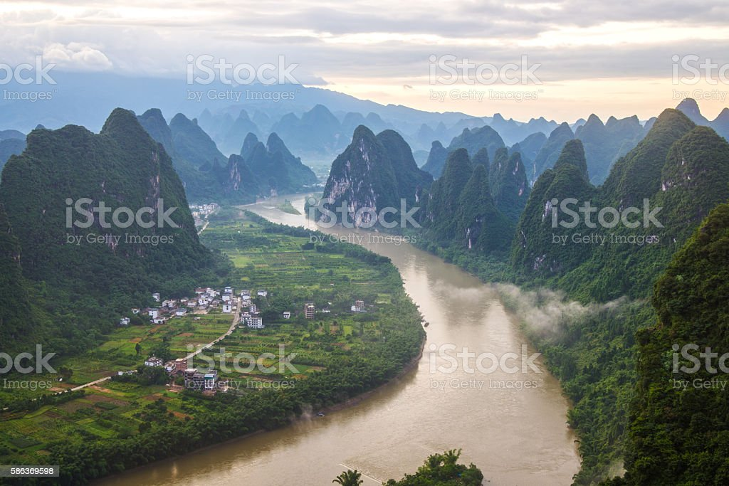 China Guilin Messire mountain scenery stock photo