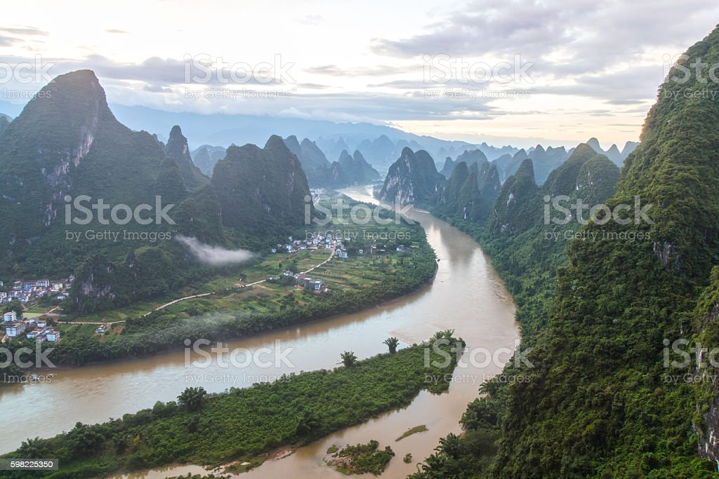 China Guilin Messire mountain scenery foto royalty-free