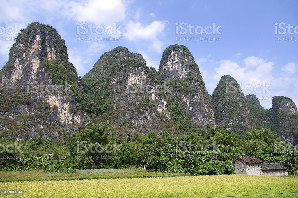 China Guilin Mountains royalty-free stock photo