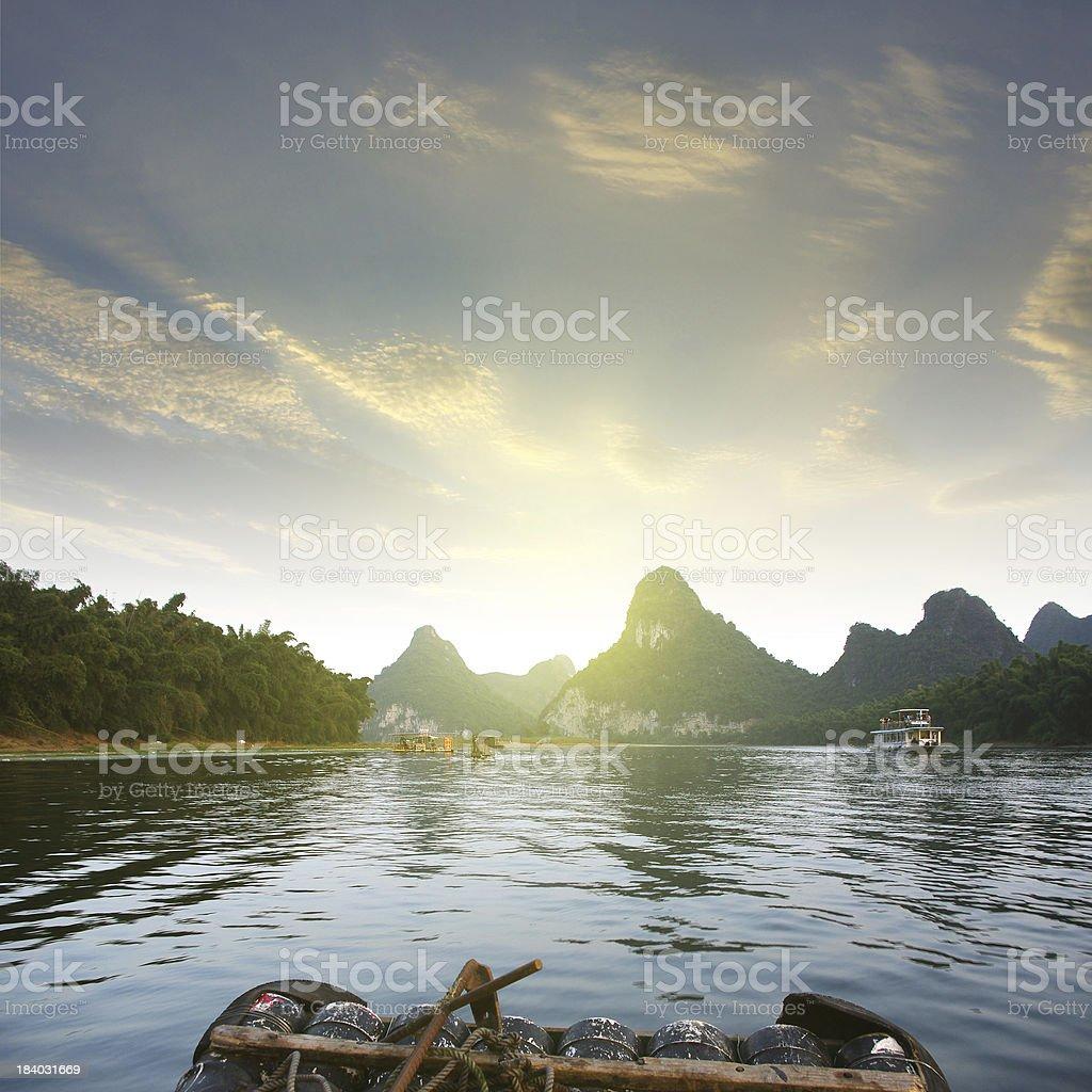 China Guilin rafting royalty-free stock photo