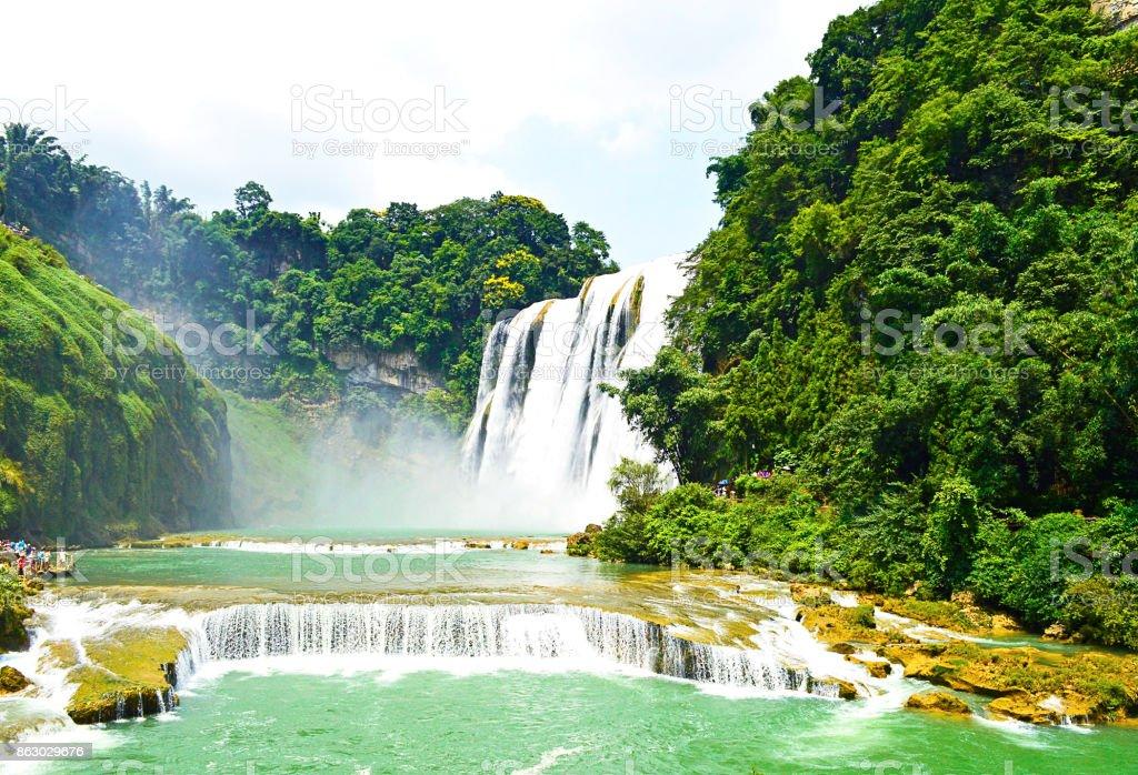 China Guizhou Huangguoshu Waterfall in Summer stock photo