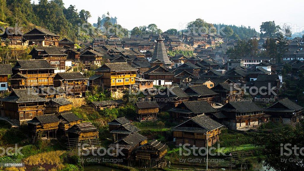 China Guizhou Sanjiang stock photo