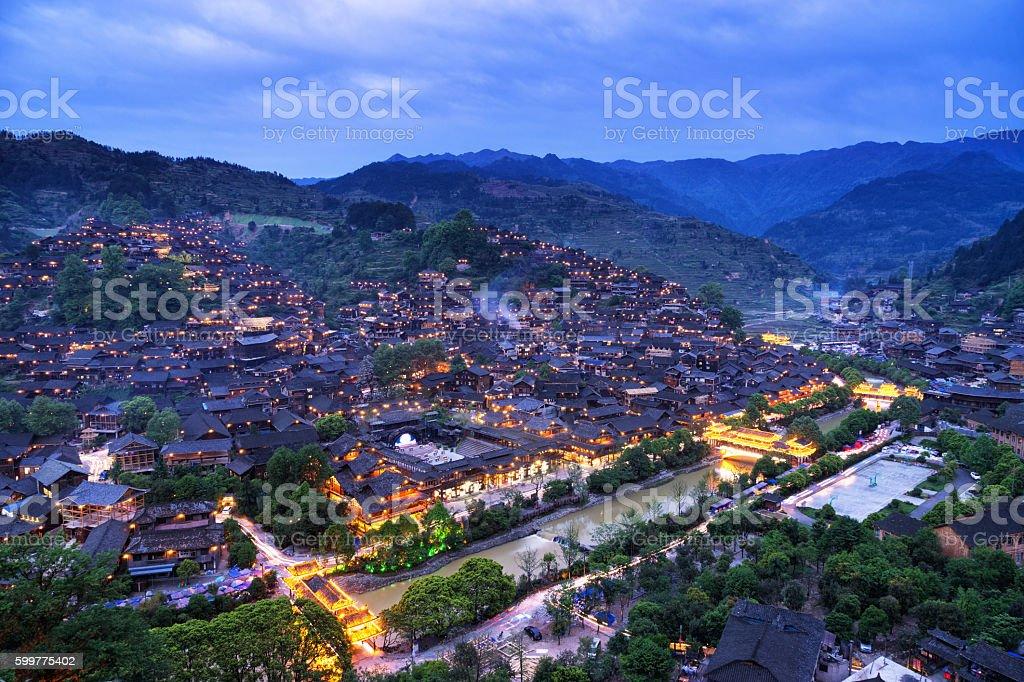 China Guizhou Xijiang Miao Village stock photo