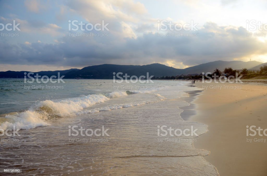 China, Hainan; Sanya, Yaluvan Bay, may 2011 stock photo