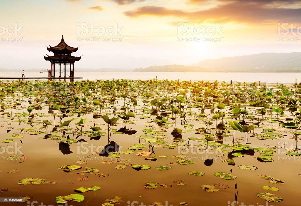China Hangzhou West Lake Landscape stock photo