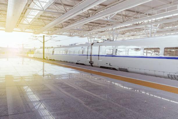 Estación de tren de alta velocidad en China - foto de stock