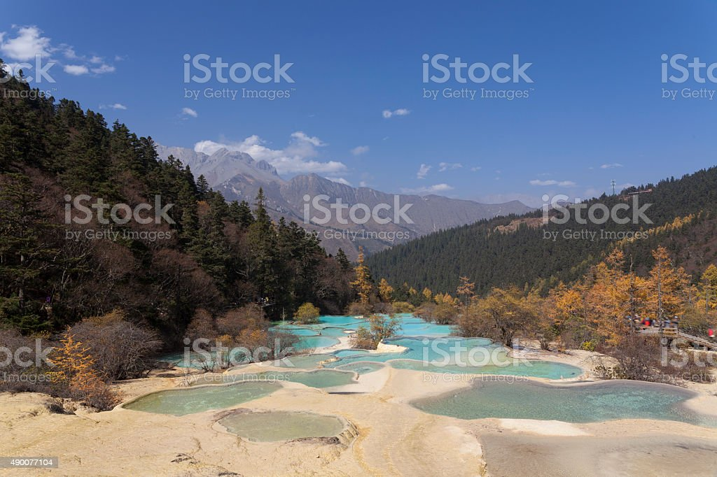 China Huanglong Mountain stock photo