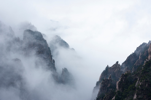China Huangshan winter, snowy weather