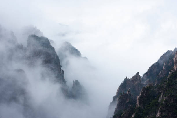 China Huangshan winter stock photo