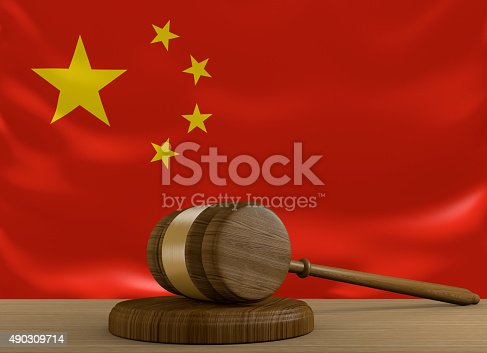 istock China law and justice system with national flag 490309714