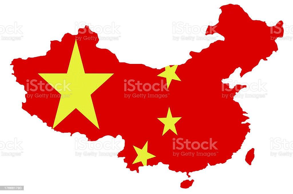 China map royalty-free stock photo