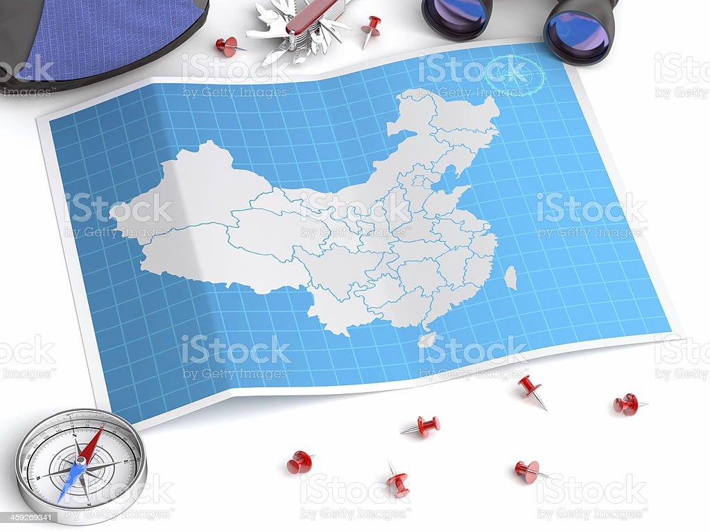 china map stock photo