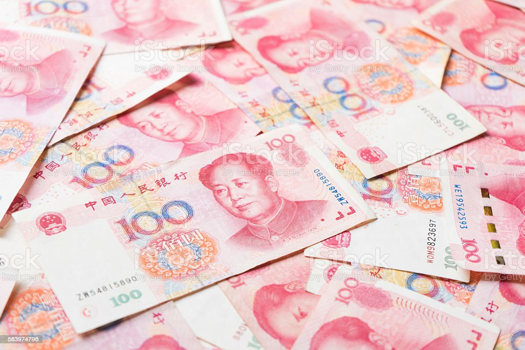 china money 100 bank note background stock photo