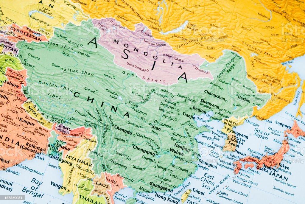 Cartina Geografica Della Mongolia.Cina E Mongolia E Giappone La Mappa Regionale Fotografie Stock E Altre Immagini Di Asia Istock