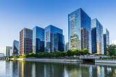 Modern city high-rise, China Ningbo CBD.