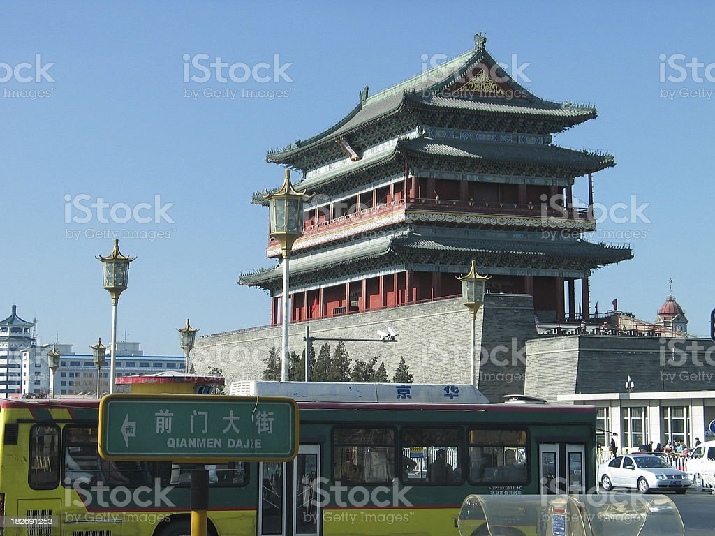 China, Old and New royalty-free stock photo