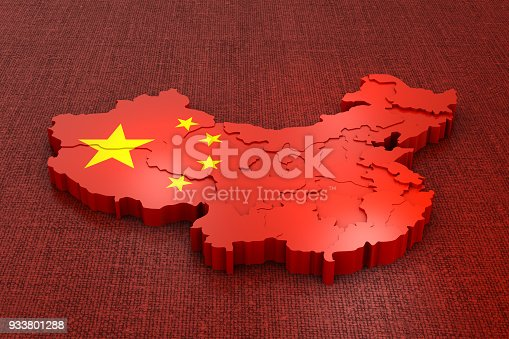 istock China on the flag 933801288