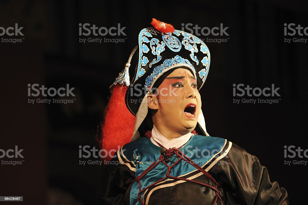 china opera actor Roared royalty-free stock photo