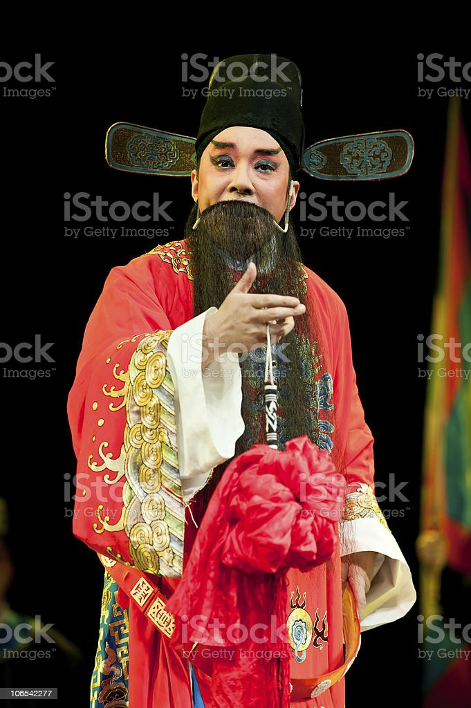 china opera man in red royalty-free stock photo