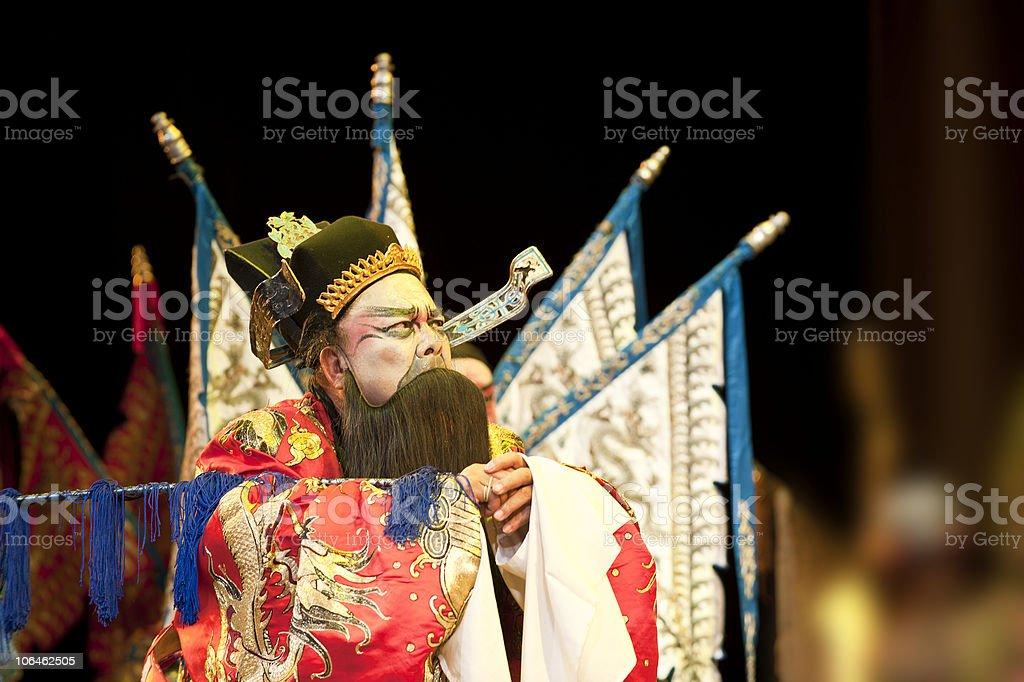 china opera man with long beard royalty-free stock photo