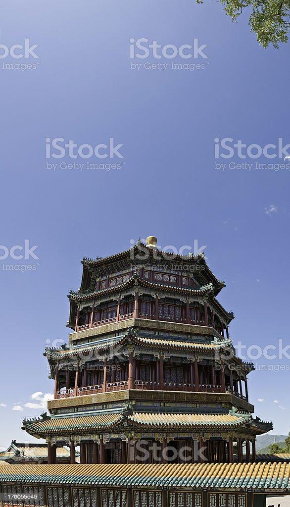 photo libre de droit de pagode china palace panoramique vertical
