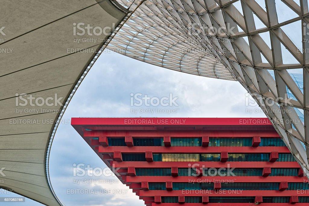 China Pavilion, Shanghai World Expo stock photo