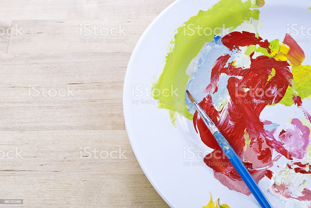 China Plate Paint Palette royalty-free stock photo