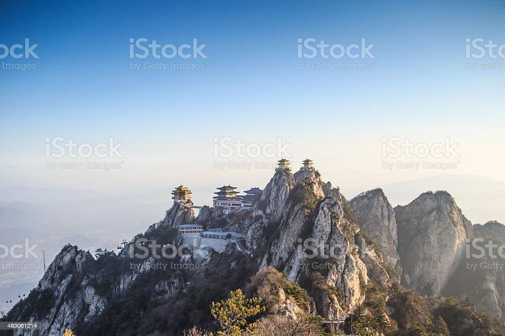 China Sacred Taoist laojun Mountain temples stock photo