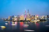 China Shanghai Panorama from sky