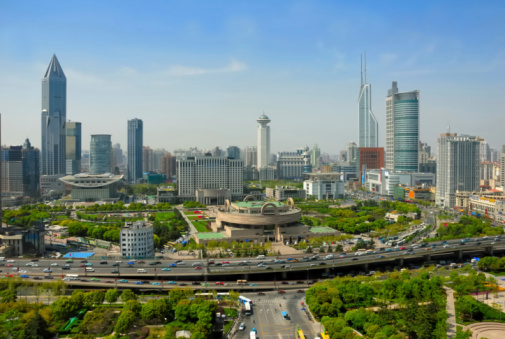 China Shanghai People Square Stock Photo - Download Image Now