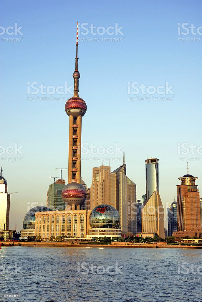 China Shanghai Pudong and the pearl tower royalty-free stock photo