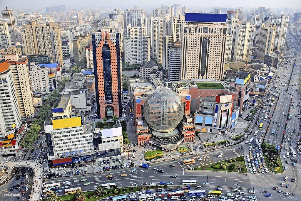 China Shanghai Puxi  skyline royalty-free stock photo