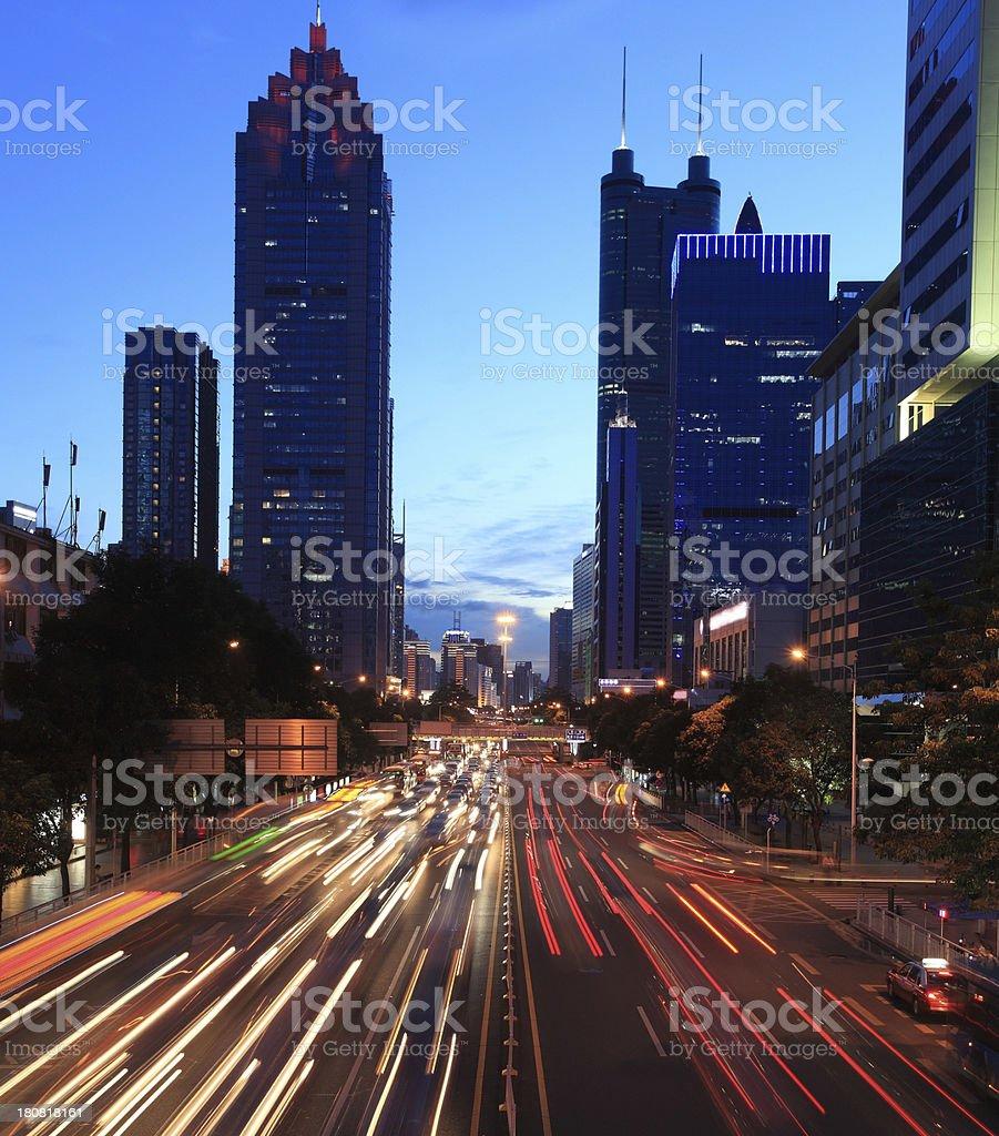 China Shenzhen night scene royalty-free stock photo