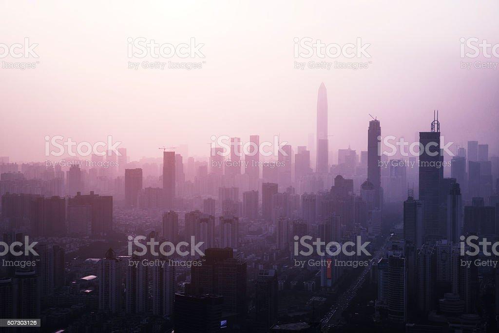 中国深センの街並み ストックフォト